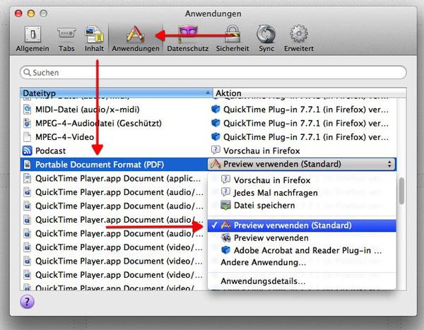 Firefox und PDF auf dem Mac