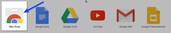 Google Chrome: Der Web Store