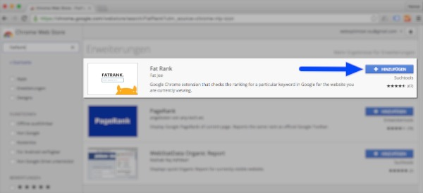 Google Chrome: App hinzufügen